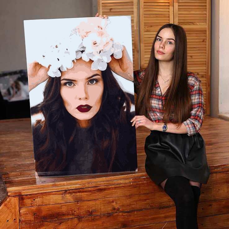 Рисуй как художник с раскраской по своему изображению