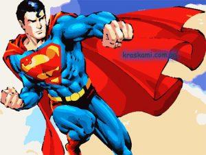 картина по номерам с суперменом